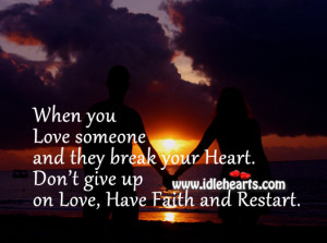 Dont Give Up On Love Quotes