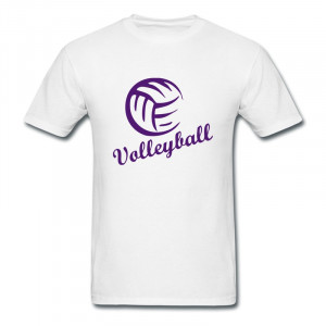 Short Volleyball Quotes For Shirts Casual tee-shirt mens