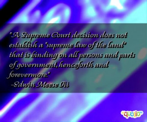 supreme court decision does not establish a supreme law of the land ...