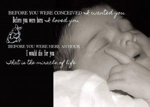 Baby Blessing Quote Photograph