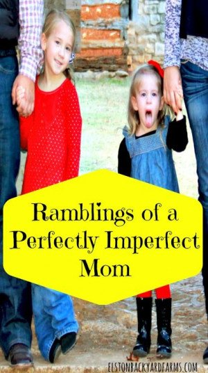Ramblings of a Perfectly Imperfect Mom - www.elstonbackyardfarms.com