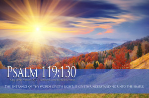 Bible Verses Psalm 119:130 Sun Rays Mountains HD Wallpapers