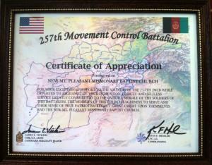 Army Certificate Of Appreciation Invitations