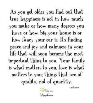 True happiness - God, family, love