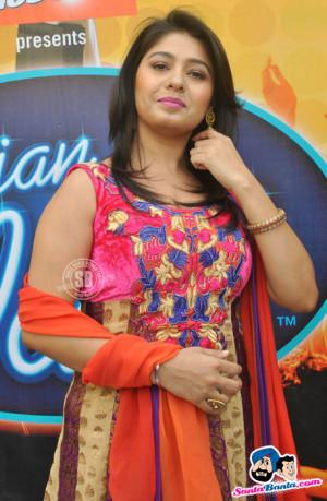 Sunidhi Chauhan at Indian Idol 6, Kolkata auditions