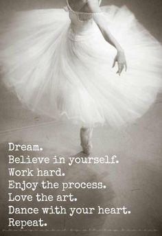 Dream Believe In Yourself Work Hard Enjoy The Process Love The Art ...