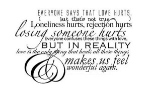 Love can heal the hurt. 'Like' if you agree!