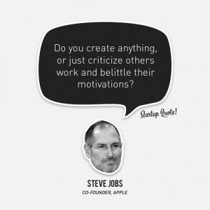 Você está criando algo ou fica apenas criticando