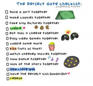 The perfect date checklist