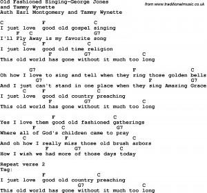 Old Fashioned Singing-George Jones lyrics with chords