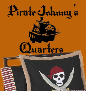 PIRATE Quarters SHIP vinyl wall lettering sayings words Decal ...