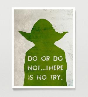 Star Wars Poster YODA 11x14