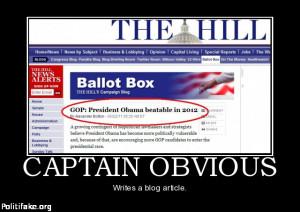 Captain Obvious enters the political arena