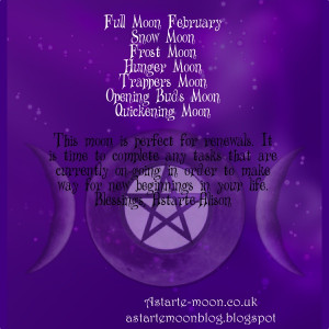 full moon february names pagan