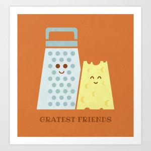 Cheesy Friendship Art Print by Teo Zirinis | Society6