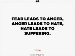 ... , hate leads to suffering.