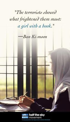 ... them most: a girl with a book.