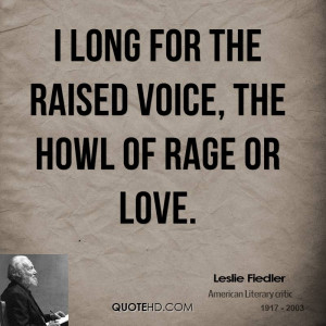 Leslie Fiedler Love Quotes