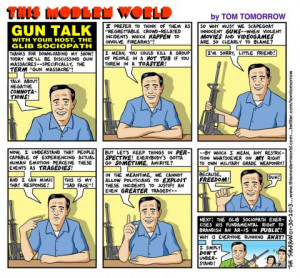 AlterNet Comics: Tom Tomorrow on NRA Propaganda
