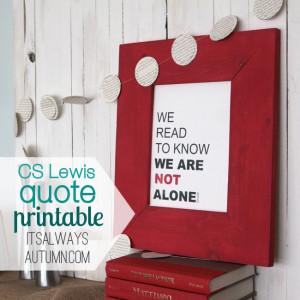 STL: CS Lewis quote printable & book recommendations
