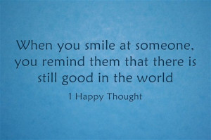 hope so :) I try to smile at everyone