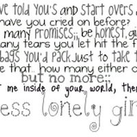 lonely girl quotes photo: one less lonely girl ollglyrics.jpg