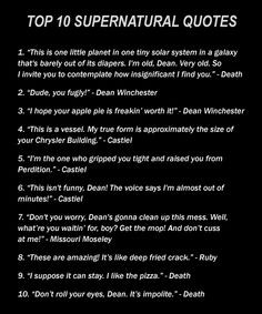 Best Supernatural Quotes