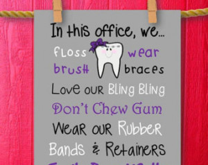 70% Off SALE! Orthodontist Gift Orthodontics Ortho Art Office Decor ...