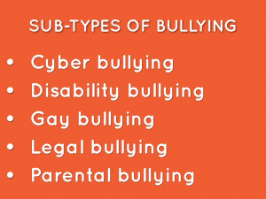 Verbal Bullying Facts Sub types of bullying