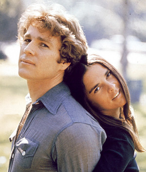 Ryan O'Neal and Ali MacGraw in a still from the film, 'Love Story ...