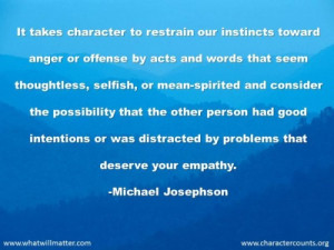 ... mean-spirited and consider the possibility that the other person had