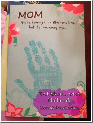 Tell Mom with Hallmark #Mothersday ideas with handprints #Fun