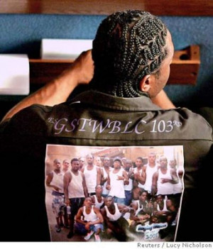 Mourner Wears Crips Gang...