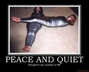 PEACE AND QUIET - Brought to you courtesy of 3M