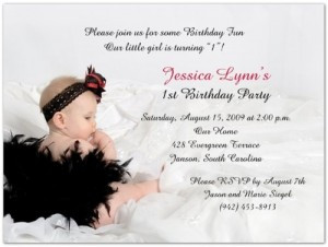 1st Birthday Photo Invitation