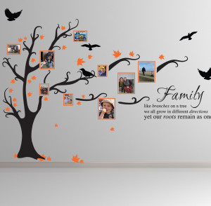 Details about FAMILY TREE BIRD ART WALL STICKERS QUOTES DECALS FT1