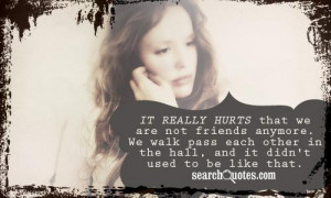 Broken Friendship Quotes about Teenage