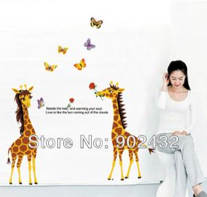 Funny Giraffe Quotes Cute giraffe couple with