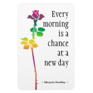 Motivational Quote Magnet : New Day premiumfleximagnet
