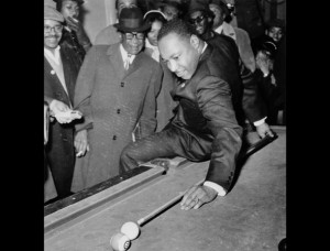 Even Martin Luther King found time for fun on occasion.