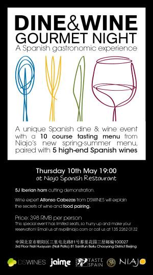 spanish wine dinner menu