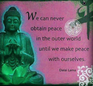 ... we make peace with ourselves.