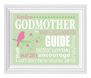 GODMOTHER Gift - 8x10 Print - Gift from Godchild - Print for Godmother ...