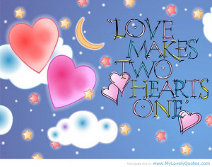 Two hearts – Marriage sweet quotes