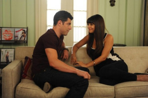 Still of Max Greenfield and Hannah Simone in New Girl (2011)