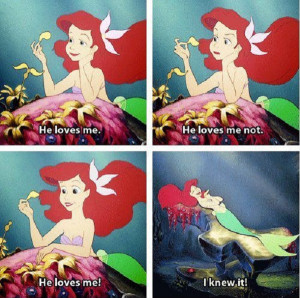 He Loves me Little Mermaid quote