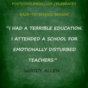 Back to School Quote: Woody Allen on the Quality of Teachers