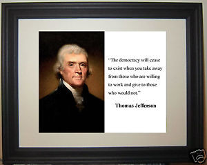 Thomas-Jefferson-the-democracy-Famous-Quote-Framed-Photo-Picture-c1