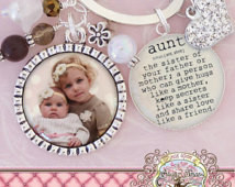 AUNT side pendant, Photograph, Custom, Mother's Day Gift First time ...