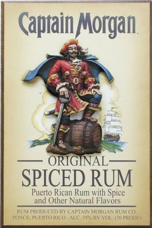 Captain Morgan Original Spiced Rum 3D Pirate Pose Wood Bar Sign